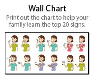 Baby Sign Language  Sign Language Chart Baby Sign Language And
