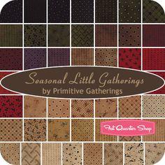 Seasonal Little Gatherings Jelly Roll Primitive Gatherings for Moda Fabrics - Fat Quarter Shop
