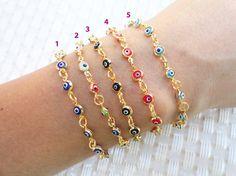 Evil eye bracelets, evil eye jewelry, evil eye bracelet, mini evil eye, evil eye, best friend birthday, gifts for women, wholesale jewelry