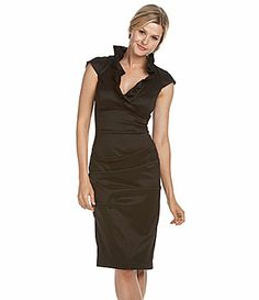 Xscape Ruffle Taffeta Dress #Dillards  // This one is way cute - I think it will fit the theme. Whatcha think Kelfool?