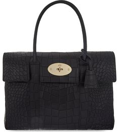 MULBERRY - Bayswater crocodile-effect leather bag  74b144ba3505f