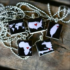 CUSTOM Country Scrabble Necklace by theadoptshoppe on Etsy, $15.00