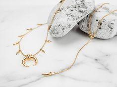 Missoma 18ct Gold Vermeil Mini Fang Large Horn Necklace