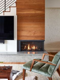 Gas fireplace with modern trimless look. : Two-Sided Gas fireplace with modern trimless look. Two-Sided Gas fireplace with modern trimless look. : Two-Sided Gas fireplace with modern trimless look. Modern Room, Home Fireplace, Living Room With Fireplace, Living Room Modern, Home Decor, Indoor Fireplace, Modern Fireplace, Fireplace Decor, Corner Fireplace Living Room