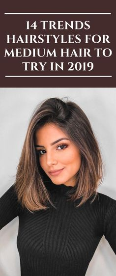 hair inspiration medium 14 Trends Hairstyles For Medium Hair To Try In 2019 Haircuts For Medium Hair, Long Bob Haircuts, Medium Hair Styles, Curly Hair Styles, Medium Hair Cuts Wavy, Braids For Medium Hair, Trending Hairstyles, Cool Hairstyles, Fashion Hairstyles