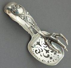 "Tiffany & Co ""St James"" Sterling Silver Claw Foot Ice Tongs ... I so WANT & NEED this!!!!!"