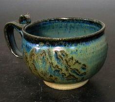 Stoneware Soup Chili Chowder Mug by ApplewarePottery on Etsy, $22.50