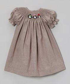Take a look at this Brown Penguin Bishop Dress - Infant, Toddler & Girls by Vive La Fête on #zulily today!