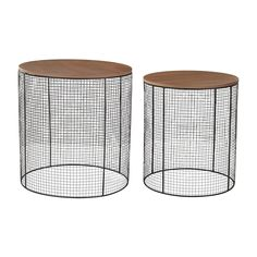 Wire Side Tables by Sterling