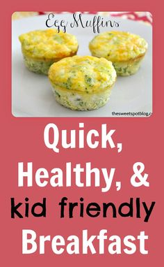 Breakfast To Go: Egg Muffins by The Sweet Spot Blog #backtoschool #healthybreakfast