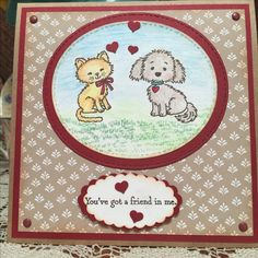 I bought the Pretty Kitty stamp set for my mom and borrowed it to use with the Bella and Friends form Stampin Up!