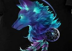 Wish apon a wolf Fantasy Wolf, Fantasy Art, Cute Animal Drawings, Cool Drawings, Fantasy Creatures, Mythical Creatures, Marshmello Wallpapers, Wolf Artwork, Wolf Spirit Animal