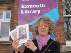Sarah, World Book Night giver, 2013. Red Dust Road collected from Exmouth Library. Sarah planned to give her free books to Big Issue sellers.