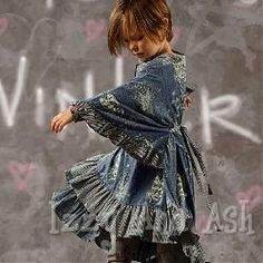 paper wings girls frilled smock top