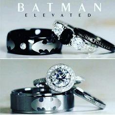 Anillos de compromiso a lo Batman