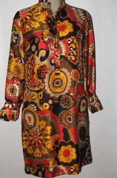 New J. CREW Silk Button Tunic Dress - Bright Colors - Mod Floral - 4/6/8   #JCREW #Tunic