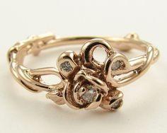 Sweet diamond rose ring #engagement