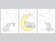 Cartoon Elephant Canvas Painting Wall Picture Art Prints , Cute Animals Elephant Print Poster Baby Room Nursery Art Decor(No Frame) Elephant Nursery Boy, Elephant Canvas, Star Nursery, Nursery Art, Baby Elephants, Girl Nursery, Bedroom Art, Nursery Themes, Nursery Prints