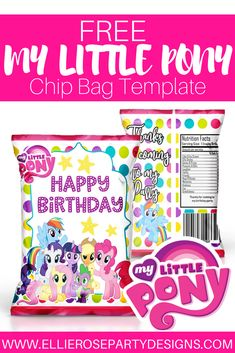 Printable chip bags for party favors. Our DIY potato chip party favor bags can be used for a ...