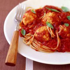 WeightWatchers.fr : recette Weight Watchers - Spaghetti aux boulettes de dinde