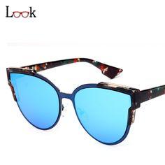 936a29a9e7 ... Sunglasses Women Vintage Fashion Mirror Sun Glasses Unique Flat Ladies  Sunglasses UV400 Summer Style-in Sunglasses from Women s Clothing    Accessories ...