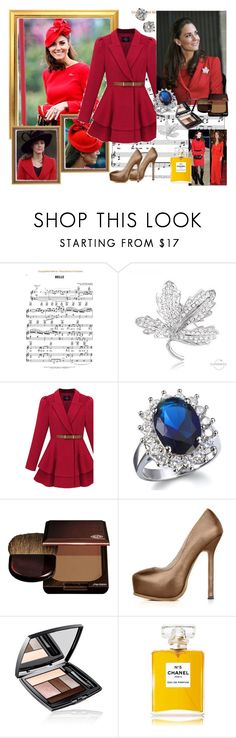 """""""Kate Middleton"""" by polyvorebr ❤ liked on Polyvore featuring Cuteberry, Pippa, Fantasy Jewelry Box, Shiseido, Lancôme, Chanel, Tiffany & Co. and kate middleton"""
