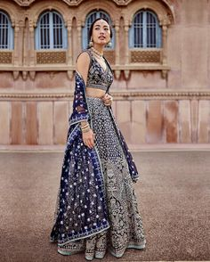 """7,254 Likes, 25 Comments - Anita Dongre (@anitadongre) on Instagram: """"Apart from the traditional red and pinks, ink blue is a lovely colour to embrace this season—it…"""""""