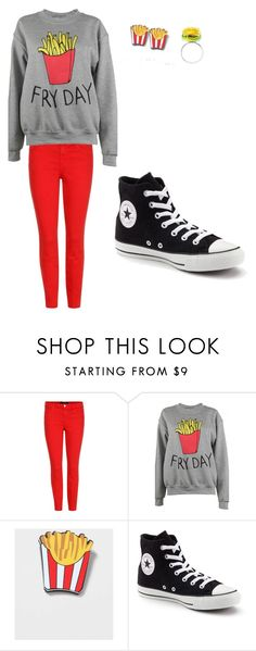 """""""freshman"""" by lashay4240 on Polyvore featuring J Brand, Adolescent Clothing, Topshop, Converse, Rad+Refined, clothes, food, teens and fries"""