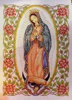 A Virgem de Guadalupe para quadro em ponto cruz com gráfico
