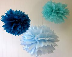 Suzanne Collection 3 Pom Poms Craft show by PaperwhiteDesigns, $12.00