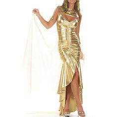 Monster High Cleo de Nile      Sexy+Women's+Egyptian+Queen+Golden+Halloween+Costume(3+Pieces)+–+USD+$+17.49