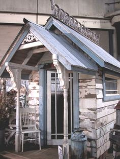 a porch for the tiniest cottage  -- Cottage & Shed Love by vickie