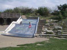 Giant Slide with natural climbing area