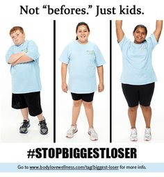 "From blog at link: ""Why should adults have all the fun of enforced starvation, dehydration, and emotional abuse on national TV? Finally, The Biggest Loser, NBC's heinous, fat-hate juggernaut, is adding kids into this mix."""
