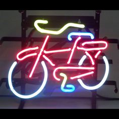Bicycle bike shop Neon Sign Fat tire Mancave Mountain biking wall or window