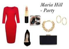 """Maria Hill - Party"" by scarlett-imogen-hughes on Polyvore featuring Steve Madden, Monsoon, Iman, Oscar de la Renta and Panacea"