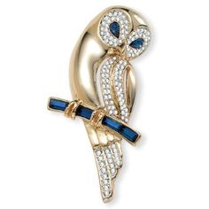 Crystal Barn Owl Pin