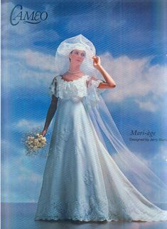 1970s Wedding, Vintage Weddings, Vintage Bridal, Advertising, Ads, Old Dresses, 1980s, Marie, Wedding Gowns