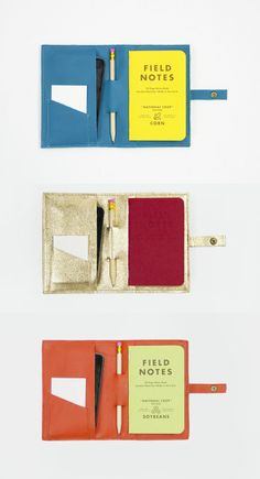 """Field notes"" in a phone wallet. Great for on-the-go scribbles. -D"