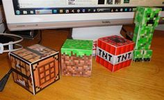 The Ultimate Guide to Minecraft Papercrafts, for Willem's b-day party!