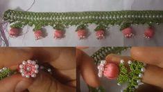 İncili Nar Çiçeği Oya Modeli #oya #oyamodelleri #oyaörnekleri #incilioya #narçiçeğioya