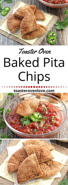 Toaster Oven Baked Pita Chips. Less than 15 minutes for a small batch of flavored pita chips. Fire up your toaster oven and enjoy this quick and healthy snack today!  via @toasterovenlove