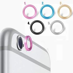 Practical Metal Rear Camera Lens Protective Ring Guard Circle Cover Lens Protector Bumper Case for Apple iPhone6 iPhone 6 6S 4.7