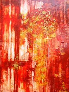 """BARBARA VAN ROOYAN ABSTRACT ART: """"Canyon Wall II"""" Original Contemporary Abstract Ex..."""