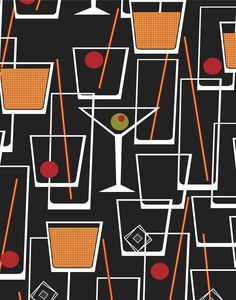 Cocktail Wallpaper Print