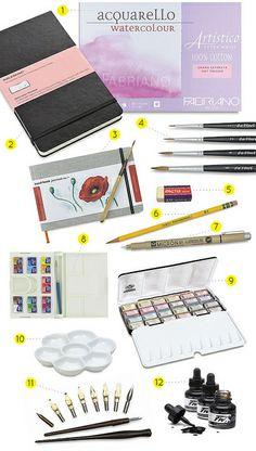 favorite art supplies by oanabefort, via Flickr