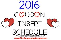 Here it is the 2016 Coupon Insert Schedule, be sure to check it out and mark your calendars so you know when to buy Sunday papers! (note: may change throughout the year)  Click the link below to get all of the details ► http://www.thecouponingcouple.com/2016-coupon-insert-schedule/ #Coupons #Couponing #CouponCommunity  Visit us at http://www.thecouponingcouple.com for more great posts!