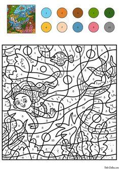 Раскраска Фея с цветами по цифрам распечатать или скачать ...