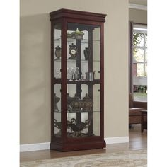 Mission Sliding Door Curio Cabinet Mt Eaton Collection