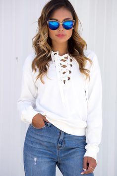 2016 Autumn Street Fashion Lace Up White Hoodie Sweatshirt Women's Vintage Suits Drop Shoulder Long Sleeve Tracksuit Plus Size